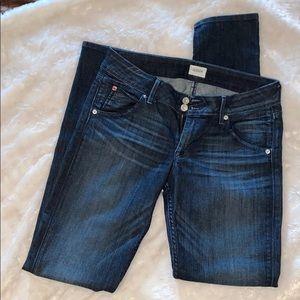 Hudson jeans low rise skinny straight leg